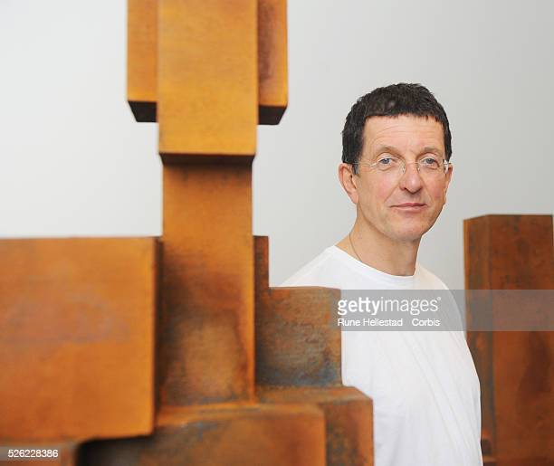 Antony Gormley attends the the press view for his new exhibition Test Sites at White Cube
