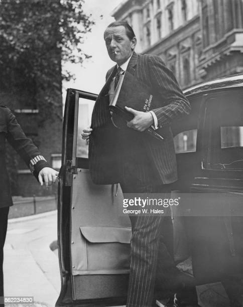 Antony Head the Secretary of State for War arrives at Number 10 Downing Street in London for talks with Sir Anthony Eden on the Suez Crisis 7th...