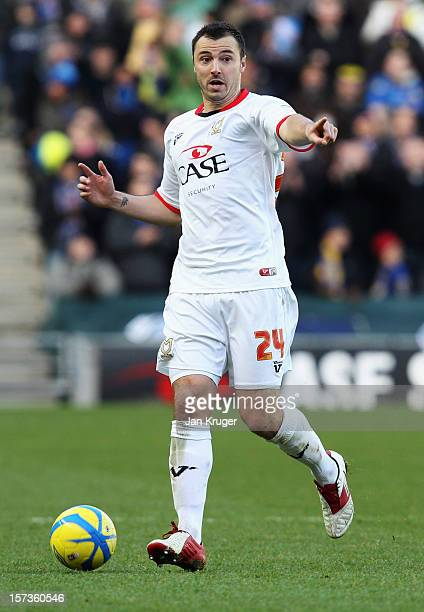 Antony Kay of MK Dons in action during the FA Cup with Budweiser Second Round match between MK Dons and AFC Wimbledon at StadiumMK on December 2 2012...