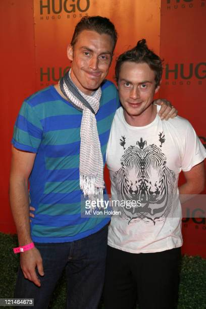 Antony Langdon and Royston Langdon, Arckid during Hugo Boss Presents the HUGO Garden Party - July 25, 2006 at Hugo Boss Roof Deck in New York City,...