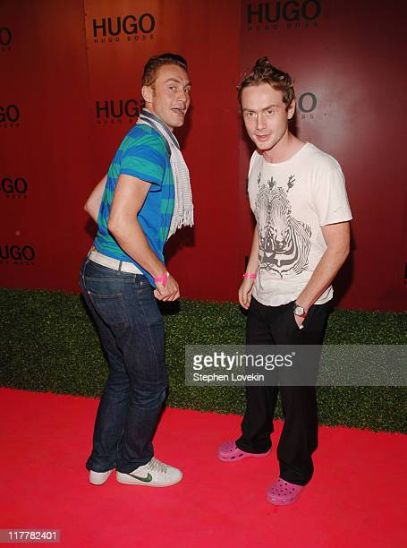 Antony Langdon and Royston Langdon during Hugo Boss Roof Garden Party at Roof Garden at 601 West 26th Street in New York City, NY, United States.