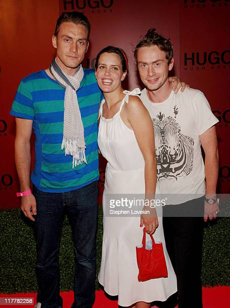 Antony Langdon, Ione Skye and Royston Langdon during Hugo Boss Roof Garden Party at Roof Garden at 601 West 26th Street in New York City, NY, United...