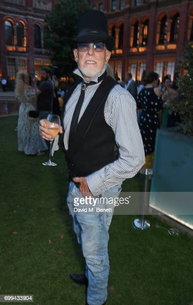 Antony Price attends the 2017 annual VA Summer Party in partnership with Harrods at the Victoria and Albert Museum on June 21 2017 in London England