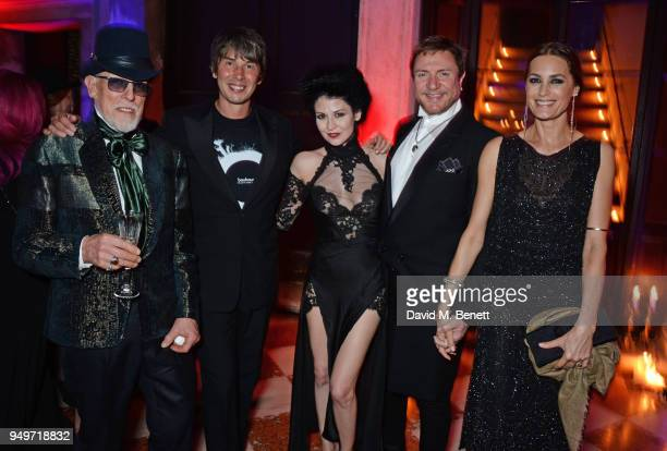 Antony Price Brian Cox Nefer Suvio Simon Le Bon and Yasmin Le Bon attend a party to celebrate Nefer Suvio's birthday hosted by The Count and Countess...