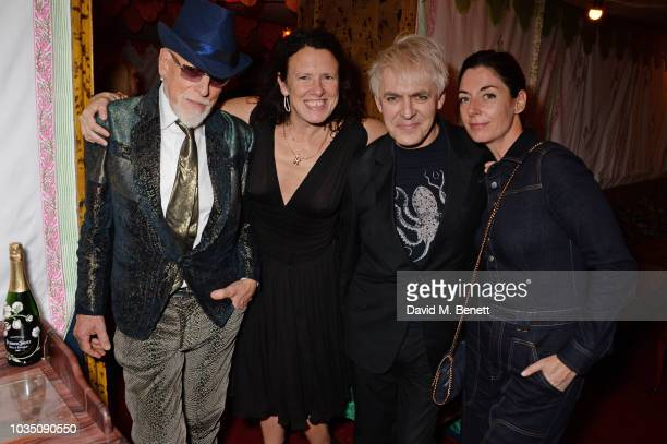 Antony Price Katie Grand Nick Rhodes and Mary McCartney attend the LOVE Magazine 10th birthday party with PerrierJouet at Loulou's on September 17...
