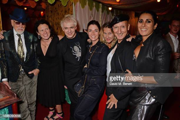 Antony Price Katie Grand Nick Rhodes Mary McCartney guest Stephen Jones and Serena Rees attend the LOVE Magazine 10th birthday party with...