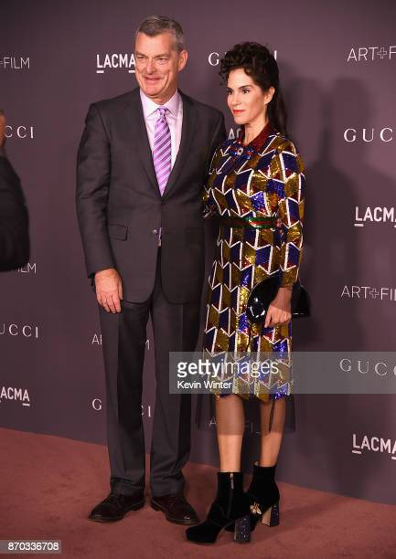 Antony Ressler and actor Jami Gertz attend the 2017 LACMA Art Film Gala Honoring Mark Bradford And George Lucas at LACMA on November 4 2017 in Los...