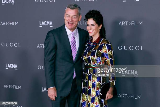 Antony Ressler and Jami Gertz attend the 2017 LACMA Art Film Gala Honoring Mark Bradford and George Lucas presented by Gucci at LACMA on November 4...