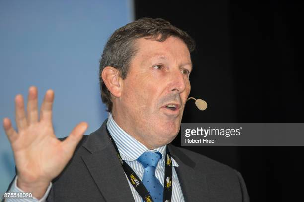 Antony Scanlon, Executive Director, IGF International Golf Federation speaks during the Session Infrastructure and Natural Sites on November 9, 2017...