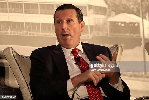 Antony Scanlon, Executive Director of the IGF, speaks during the HSBC Golf Business Forum on November 30, 2016 in Ponte Vedra Beach, Florida.