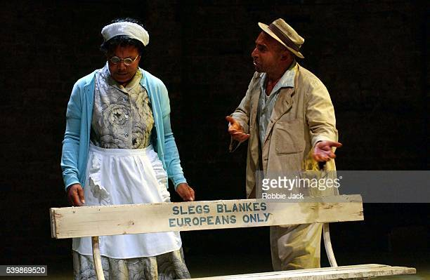 """Antony Sher and Cleo Sylvestre in the production """"I.D"""" at the Almeida Theatre."""