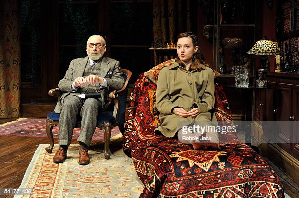 Antony Sher as Freud and Lydia Wilson as Jessica in Terry Johnson's Hysteria directed by Terry Johnson at Hampstead Theatre in London.