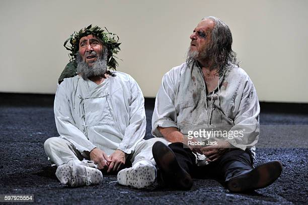 Antony Sher as King Lear and David Troughton as Gloucester in William Shakespeare's King Lear directed by Gregory Doran at the Royal Shakespeare...