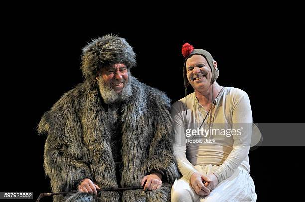Antony Sher as King Lear and Graham Turner as Fool in William Shakespeare's King Lear directed by Gregory Doran at the Royal Shakespeare Theatre on...