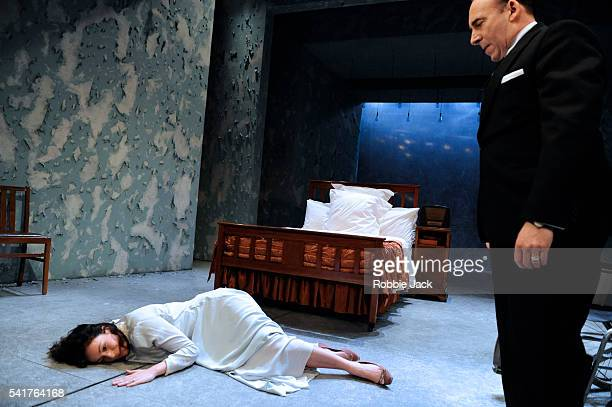 """Antony Sher as Phillip Gellburg and Lucy Cohu as Sylvia Gellburg in Arthur Miller's """"Broken Glass"""" directed by Iqbal Khan at the Trycycle Theatre in..."""