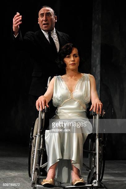 "Antony Sher as Phillip Gellburg and Tara Fitzgerald as Sylvia Gellburg in Arthur Miller's ""Broken Glass"" directed by Iqbal Khan at the Vaudeville..."