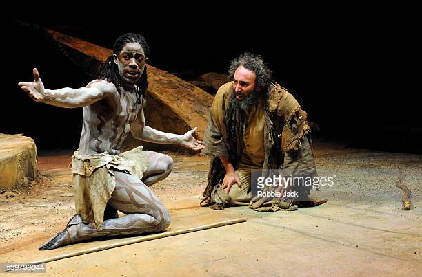 Antony Sher as Prospero and Atandwa Kani as Ariel in the joint Baxter Theatre/Royal Shakespeare Company production of William Shakespeare's play The...