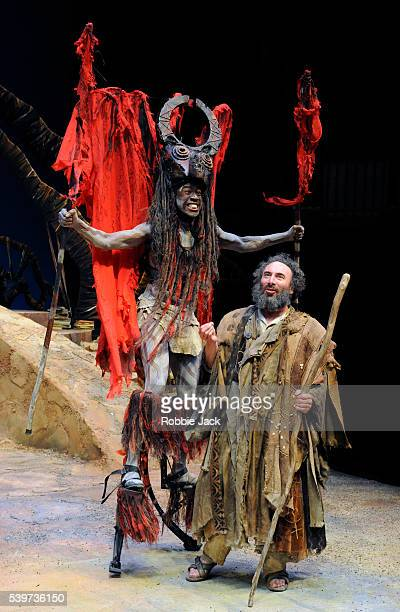 Antony Sher as Prospero and Atandwa Kani as Harpy in the joint Baxter Theatre/Royal Shakespeare Company production of William Shakespeare's play The...