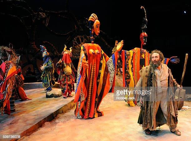 Antony Sher as Prospero with artists of the company in the joint Baxter Theatre/Royal Shakespeare Company production of William Shakespeare's play...
