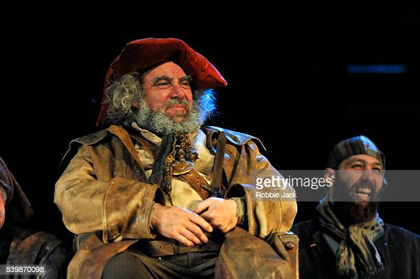 Antony Sher as Sir John Falstaff with artists of the company in the Royal Shakespeare Company's production of William Shakespeare's Henry IV part I...