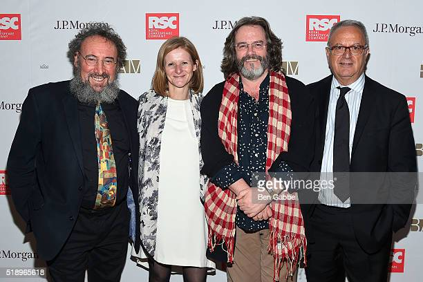 "Antony Sher, Katy Clark, Gregory Doran and Joe Melillo attend the Benefit Celebration Honoring Royal Shakespeare Company's ""King & Country"" at BAM..."