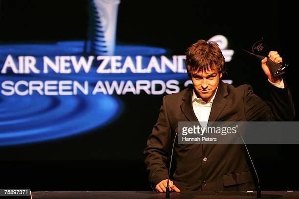 Antony Starr accepts his award for Best Actor at the New Zealand Screen Awards on August 1 2007 in Auckland New Zealand