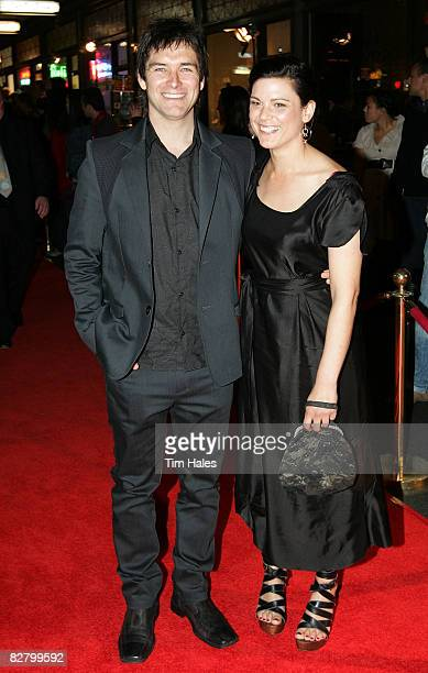 Antony Starr and partner Lucy McLay arrive at the Qantas New Zealand Television Awards at the Civic Theatre on September 13 2008 in Auckland New...