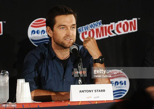 Antony Starr attends the Banshee panel at New York ComicCon 2015 at The Jacob K Javits Convention Center on October 8 2015 in New York City