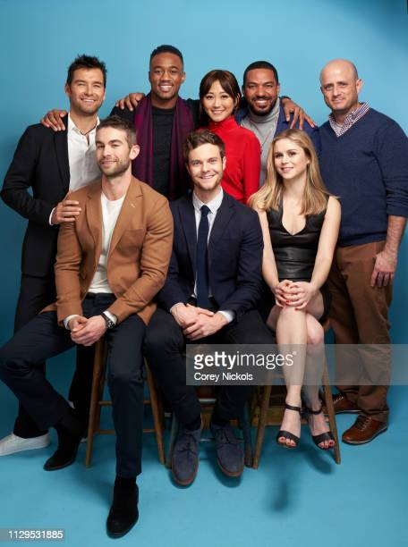 Antony Starr, Jessie Usher, Karen Fukuhara, Laz Alonso, Eric Kripke, and Chace Crawford, Jack Quaid, and Erin Moriarty of Amazon Prime Video's 'The...