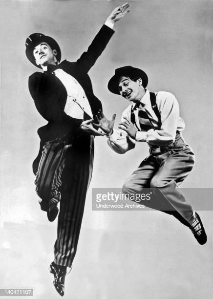 Antony Tudor and Eugen Loring are caught with high speed photography in the American Ballet Theater production of The Great American Goof in New York...