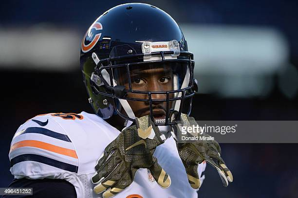Antrel Rolle of the Chicago Bears warms up before a game against the San Diego Chargers at Qualcomm Stadium on November 9, 2015 in San Diego,...
