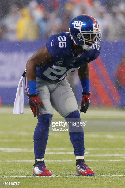 Antrel Rolle of the New York Giants in action against the Washington Redskins at MetLife Stadium on December 29, 2013 in East Rutherford, New Jersey....