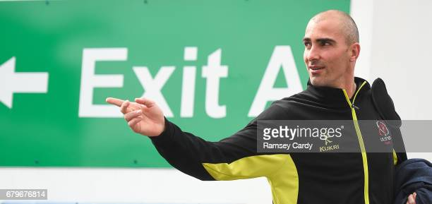 Antrim Ireland 6 May 2017 Ulster's Ruan Pienaar arrives ahead of the Guinness PRO12 Round 22 match between Ulster and Leinster at the Kingspan...