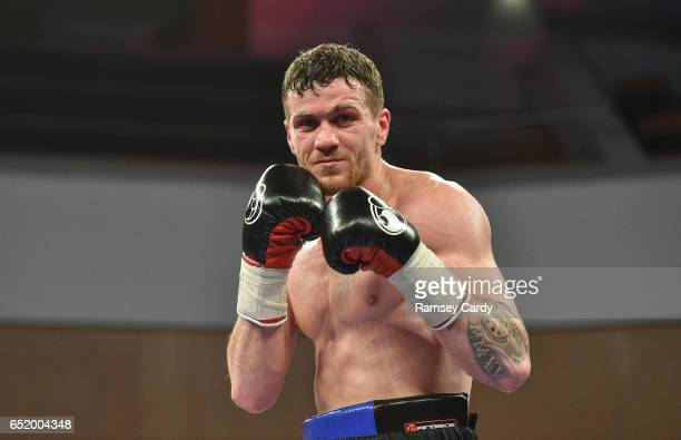 Antrim United Kingdom 10 March 2017 Gary Corcoran after defeating James Gorman during their welterweight bout in the Waterfront Hall in Belfast