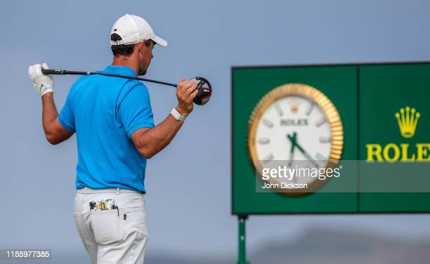 Antrim United Kingdom 16 July 2019 Rory McIlroy of Northern Ireland waits to tee off on the 17th during a practice round ahead of the 148th Open...