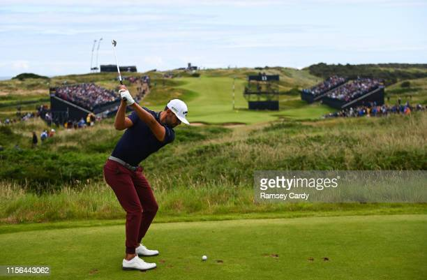 Antrim United Kingdom 19 July 2019 Erik Van Rooyen of South Africa hits a tee shot on the 13th hole during Day Two of the 148th Open Championship at...