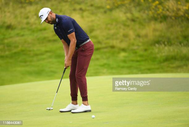 Antrim United Kingdom 19 July 2019 Erik Van Rooyen of South Africa putts on the 12th green during Day Two of the 148th Open Championship at Royal...