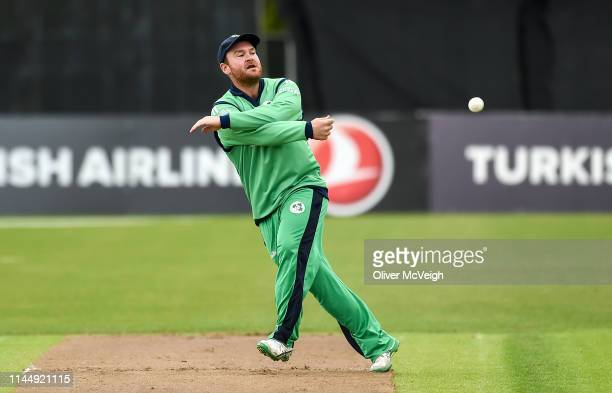 Antrim United Kingdom 19 May 2019 Paul Stirling of Ireland during the OneDay International between Ireland and Afghanistan at Stormont in Belfast