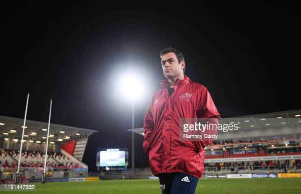 Antrim United Kingdom 3 January 2020 Munster head coach Johann van Graan ahead of the Guinness PRO14 Round 10 match between Ulster and Munster at...