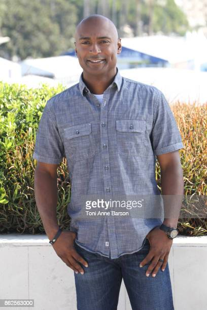 Antron Brown attends photocall for 'Top Gear America' as part of MIPCOM 2017 at the Palais des Festivals on October 17 2017 in Cannes France