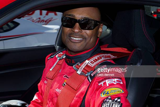 Antron Brown attends the Toyota Grand Prix and the celebrity race press day at Toyota Grand Prix of Long Beach on April 7 2015 in Long Beach...