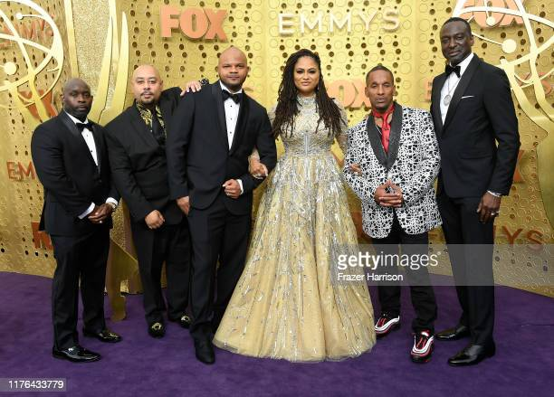 Antron McCay Raymond Santana Kevin Richardson Ava DuVernay Korey Wise and Yusef Salaam attend the 71st Emmy Awards at Microsoft Theater on September...