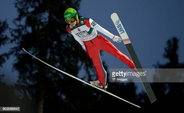 Antti Aalto of Finland competes during the FIS Ski Jumping World Cup on December 09 2017 in TitiseeNeustadt Germany