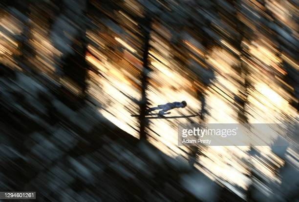 Antti Aalto of Finland competes during the practice round prior to the Qualification at the Four Hills Tournament 2020 Bischofshofen at on January...
