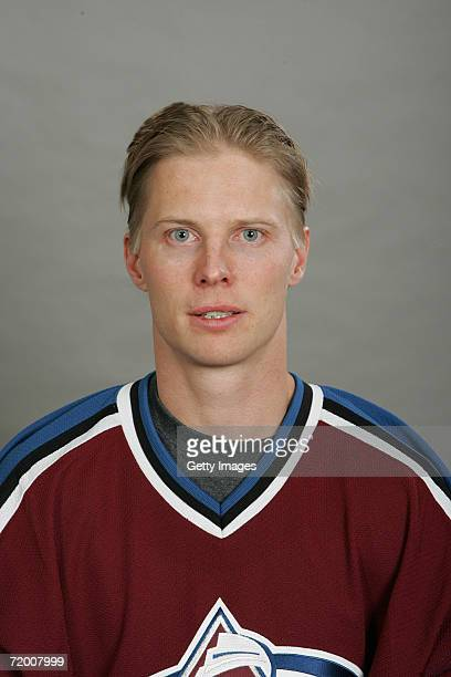 Antti Laaksonen of the Colorado Avalanche poses for a portrait on September 2006 at the Pepsi Center in Denver Colorado