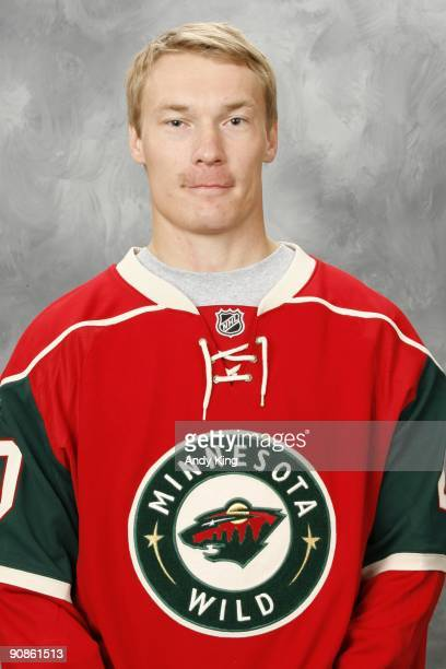 Antti Miettinen of the Minnesota Wild poses for his official headshot for the 20092010 NHL season at the Xcel Energy Center on September 12 2009 in...