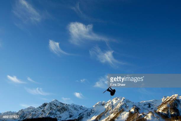 Antti Ollila of Finland practices ahead of the Freestyle Skiing Men's Ski Slopestyle Qualification during day six of the Sochi 2014 Winter Olympics...
