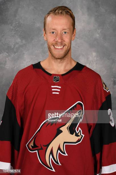 Antti Raanta of the Arizona Coyotes poses for his official headshot for the 20182019 season at Gila River Arena on September 13 2018 in Glendale...