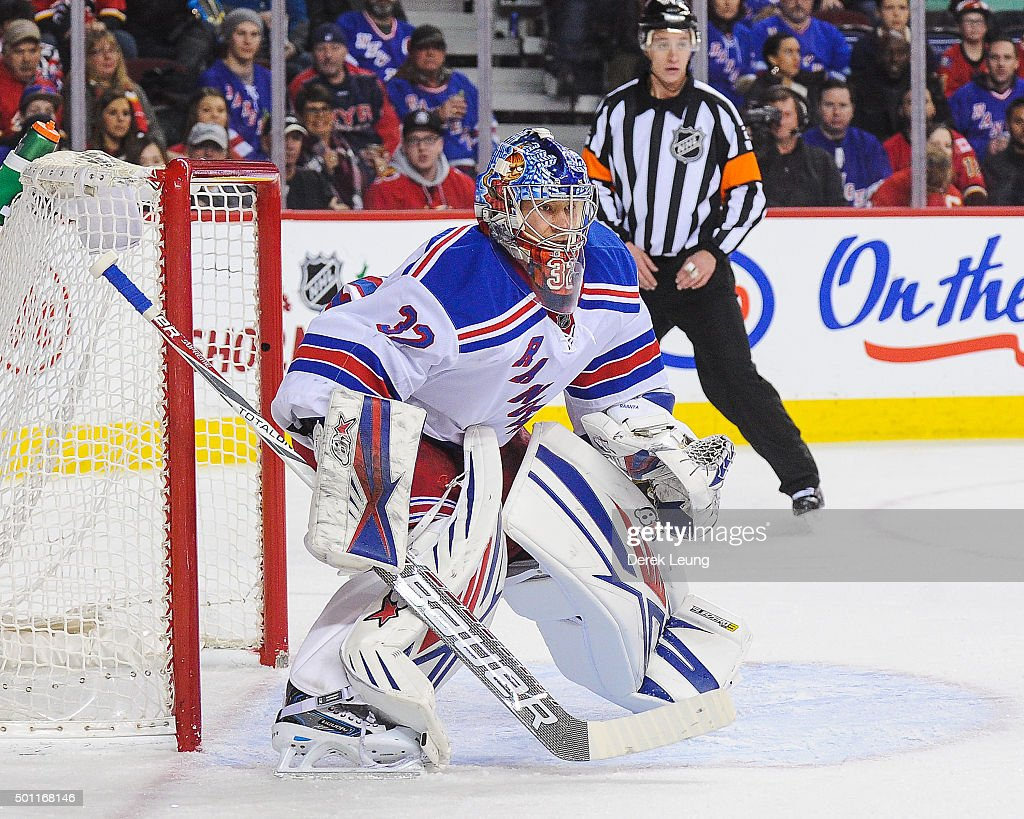 New York Rangers v Calgary Flames : News Photo