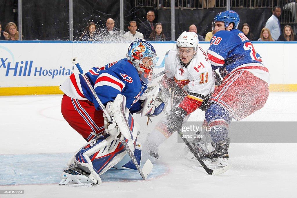 Calgary Flames v New York Rangers : News Photo